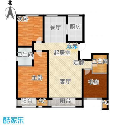 新华联雅园156.70㎡D户型2室2厅2卫