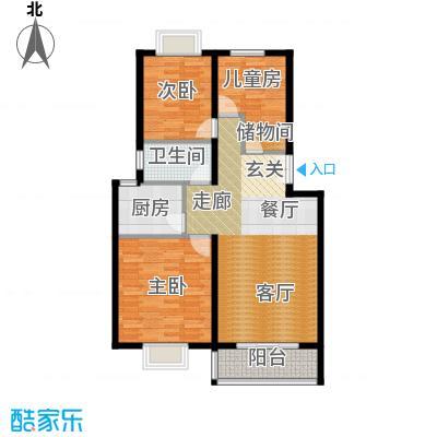 BOBO悠乐城108.20㎡多层J户户型3室2厅1卫