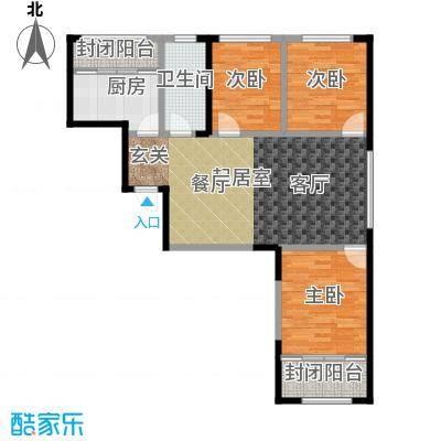 白领公寓97.36㎡白领公寓97.36㎡3室2厅1卫户型3室2厅1卫