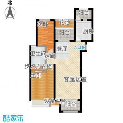 九龙仓时代上院104.00㎡九龙仓时代上院户型图(2/3张)户型3室2厅1卫