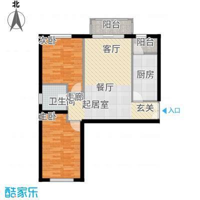 银丰花园银丰花园户型图B1户型(2/14张)户型2室2厅1卫