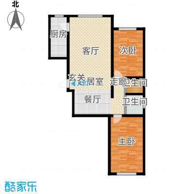 观澜国际104.00㎡2室2厅2卫户型2室2厅2卫CC