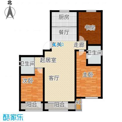 新华联雅园145.10㎡E户型2室2厅2卫
