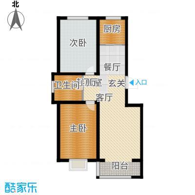 西城阳光99.76㎡D户型2室2厅1卫