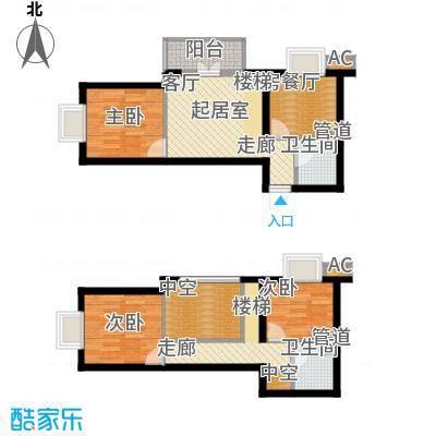 金隅时代城金隅时代城户型图5#公寓(8/13张)户型10室