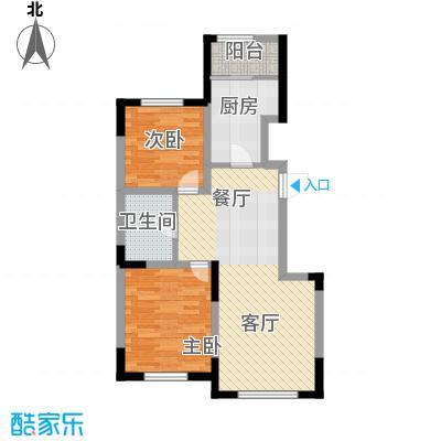 远创金泽锦城81.81㎡E户型2室2厅1卫