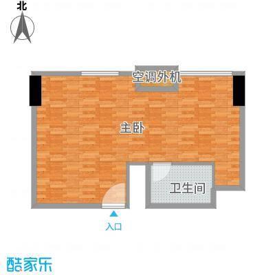 贵贤上品66.00㎡21至35层平面图户型1室1卫