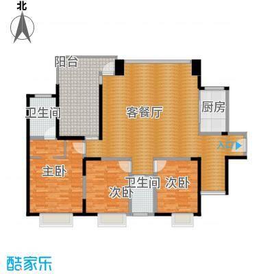中信观澜凯旋城129.88㎡项目1-3栋标准层H户型4室2厅2卫