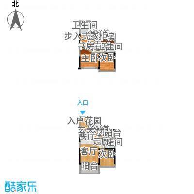 绿景香颂89.00㎡绿景香颂户型图E座A_F型4房2厅3卫89平方米(3/16张)户型4室2厅3卫