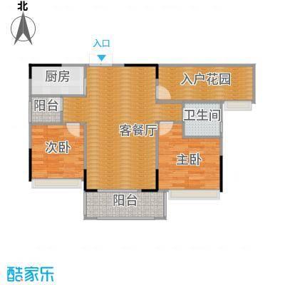 丰泰旗山绿洲77.32㎡户型2室2厅1卫