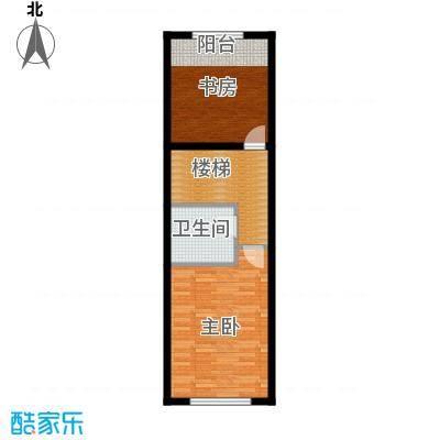 中海国际社区88.00㎡跃层E户型2室1卫
