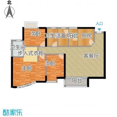 豪景苑119.73㎡户型3室1厅2卫1厨