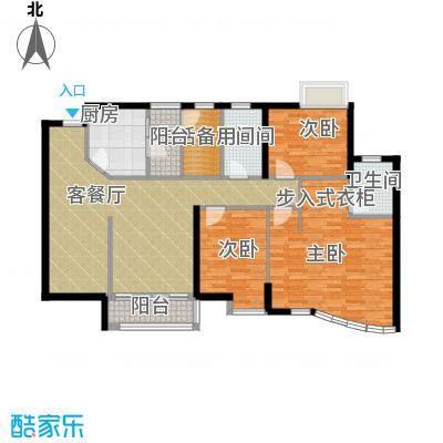豪景苑117.03㎡户型3室1厅2卫1厨