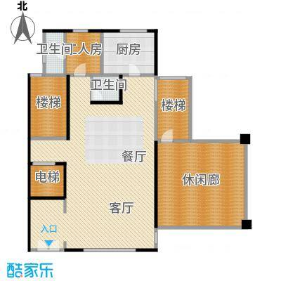 大朗碧桂园169.09㎡N56负一层平面户型10室