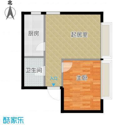 天润广场56.46㎡户型1室1厅1卫