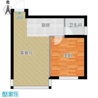 天润广场55.19㎡B藏珑户型1室1厅1卫