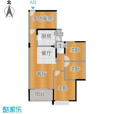 中熙松湖国际89.00㎡户型4室2厅1卫