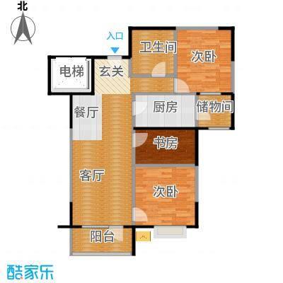 万科蓝山89.00㎡户型3室2厅1卫