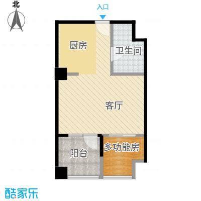 万科蓝山40.00㎡公寓户型1室1厅1卫