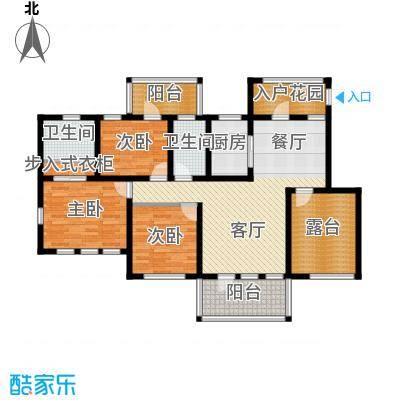 金地铂悦114.00㎡A86层洋房六层户型3室2厅2卫