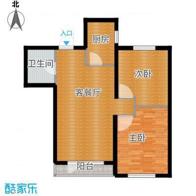瑞家景峰90.31㎡C2户型2室2厅1卫