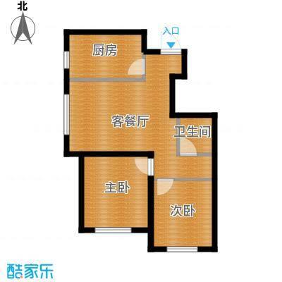 瑞家景峰76.72㎡A2户型2室2厅1卫