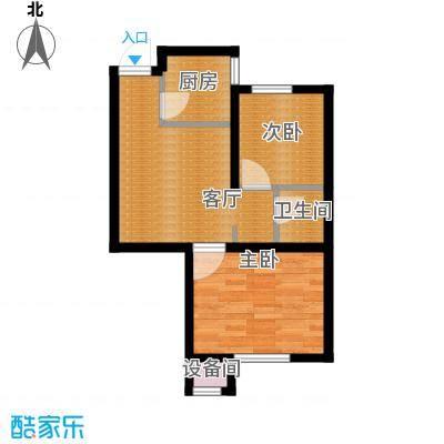 瑞家景峰62.34㎡B1户型2室2厅1卫