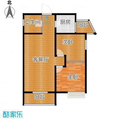 中兴和园89.00㎡7#2单元-03-B15反二室户型2室1厅1卫1厨