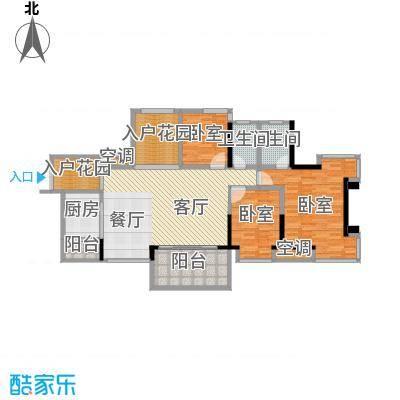 永江国际公馆128.42㎡户型10室