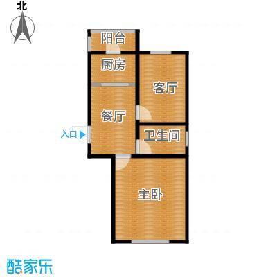 天伦中央广场67.32㎡B户型2室1厅1卫