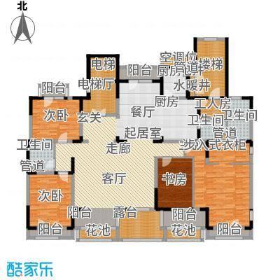 麦迪逊花园二期249.81㎡平层别墅e2户型3室2厅2卫