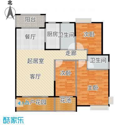 龙湾新城108.53㎡F10-02户型3室2厅2卫