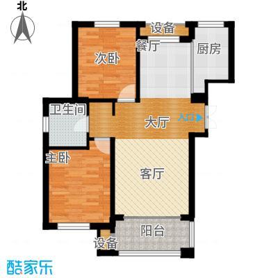 朗庭山85.88㎡G聆海观澜户型2室2厅1卫