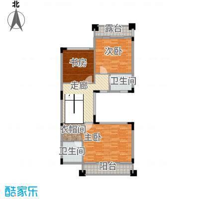 皇庭壹�公馆89.01㎡联排别墅三层平面图户型10室