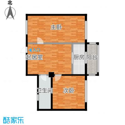 想想大厦98.00㎡F-户型2室1厅1卫