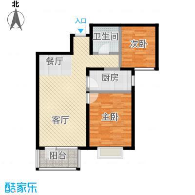 海唐广场88.00㎡D户型2室2厅1卫
