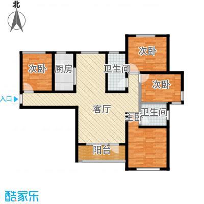 平谷蓝熙庭122.67㎡户型4室2厅2卫