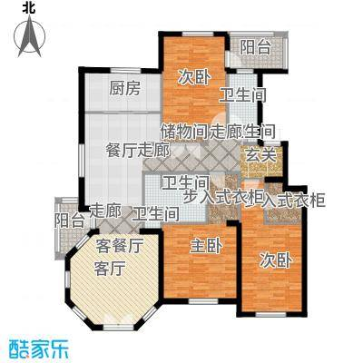 德嘉与海暖草洋房三室两厅两卫户型3室2厅2卫