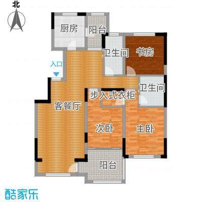 中海金域中央125.09㎡户型3室1厅2卫1厨