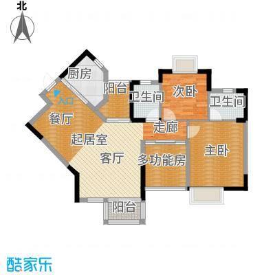 丰泰东海城堡98.00㎡3栋1单元05栋1、3单元014栋1单元0户型2室2卫1厨