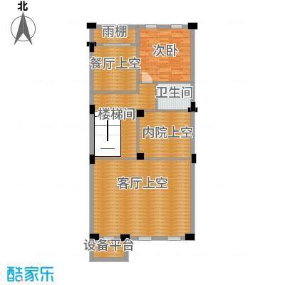 皇庭壹�公馆107.33㎡联排别墅二层平面图户型10室