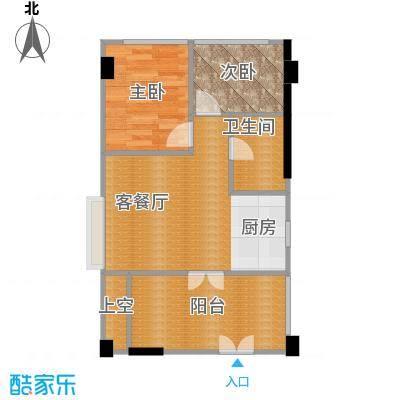 书香门第上河坊53.54㎡C户型2室1厅1卫