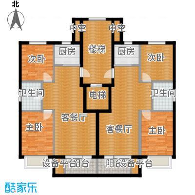嘉恒国际148.97㎡户型4室2厅2卫2厨