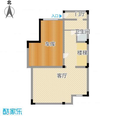 国信美邑102.59㎡D-1负首层平面示意图户型1室1厅1卫