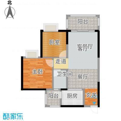 金田花园花域19栋标准层B1户型1室1厅1卫1厨