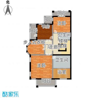 御苑158.00㎡双拼-地上3F户型3室2厅2卫