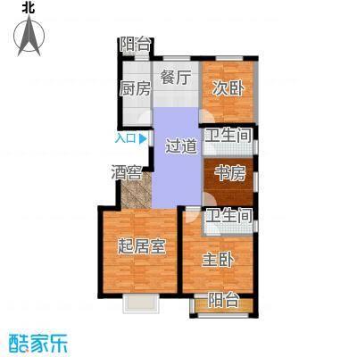 荣川沁园137.38㎡户型3室2卫1厨