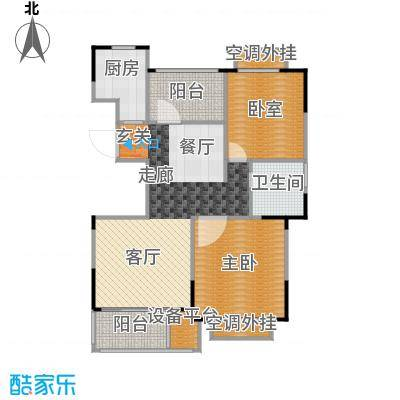 惠泽云锦城89.00㎡高层23#A1户型2室2厅1卫