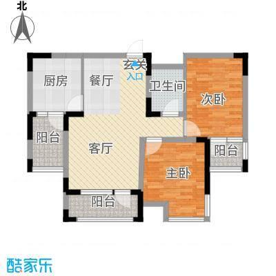 中信城83.43㎡枫丹白露2#、3#楼02户型2室2厅