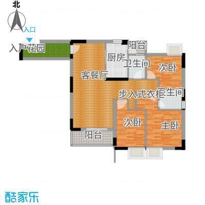 三正世纪豪庭99.60㎡户型3室1厅2卫1厨